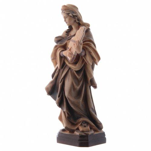 Santa Cecilia tonalità varie di marrone in legno s4