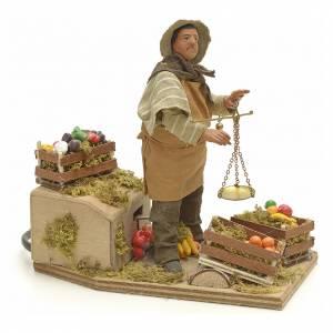 Santon animé, marchand de légumes crèche 14 cm s2