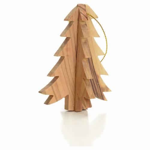 Sapin à suspendre décoration en bois d'olivier s2