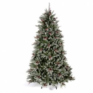Sapins de Noël: Sapin de Noël 240 cm neige baies et pommes pin Dunhill