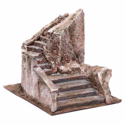 Scalinata presepe tipo roccia 15x15x25 cm s3