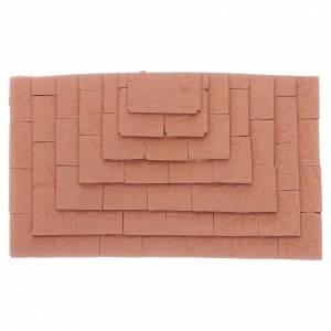 Accessori presepe per casa: Scalinata su tre lati in terracotta 1,5x10x5 cm