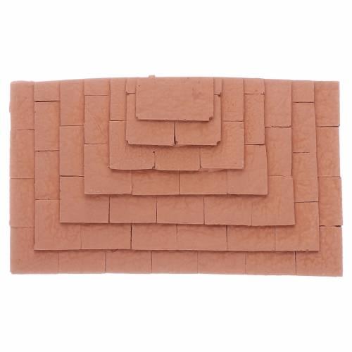 Scalinata su tre lati in terracotta 1,5x10x5 cm s1