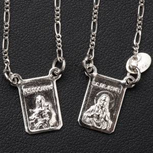 Scapolari: Scapolare argento 800 Madonna e Gesù