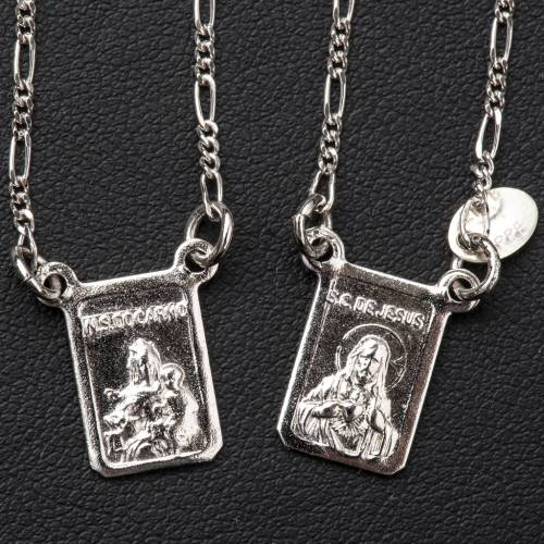 Scapolare argento 800 Madonna e Gesù s2