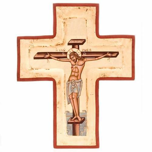 Screen-printed cross icon s1