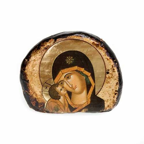 Screen-printed terracotta icons, Jesus and Mary s6