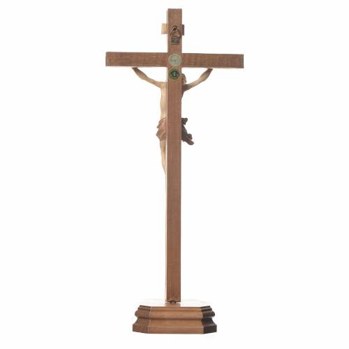 Sculpted table crucifix, Corpus model in multi-patinated Valgard s3
