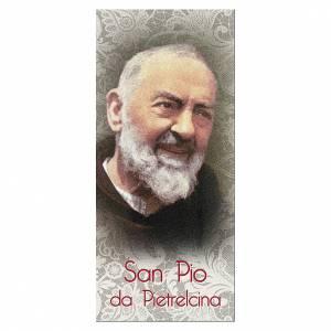 Segnalibro: Segnalibro carta perlata Padre Pio Gesù è Tuo 15x5 cm ITA