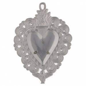 Wota błagalne i dziękczynne: Serce wotywne Ave Maria 9.5x7.5 cm
