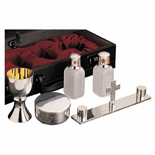 Servizio messa valigetta oggetti celebrazione ottone argentato Molina s1