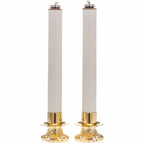 Set complet 2 chandeliers et 2 cierges s1