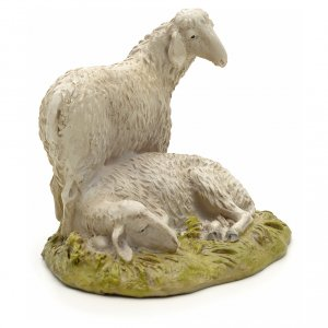 Sheep 12cm in resin s2