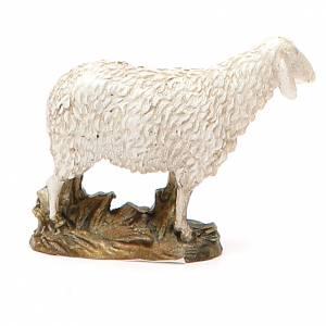 Sheep looking up in painted resin, 10cm Martino Landi Nativity s3