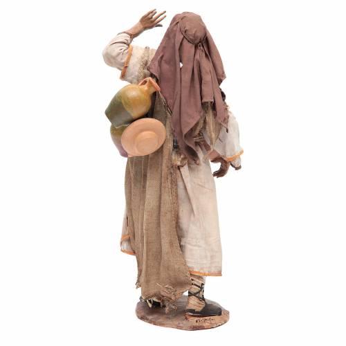 Shepherd with amphorae 30cm by Angela Tripi, extra finish s3