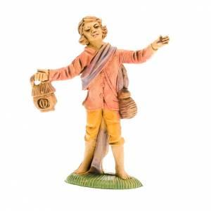 Nativity figurine, shepherd with lantern 8cm s1