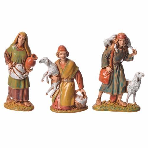 Shepherds, 10 nativity figurines, 6.5cm Moranduzzo s2