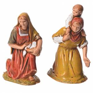 Shepherds, 10 nativity figurines, 6.5cm Moranduzzo s5