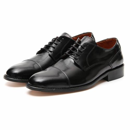 Shoes in polished real leather, toe cut s5