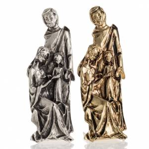 Christmas home decorations: Silhouette of the Holy Family 7x2cm