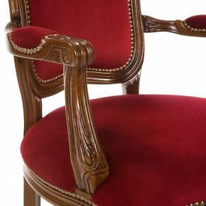 Ambones, reclinatorios, mobiliario religioso: Silla tipo barroco de madera de nogal