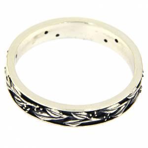 Prayer rings: Silver and black zircons ring AMEN