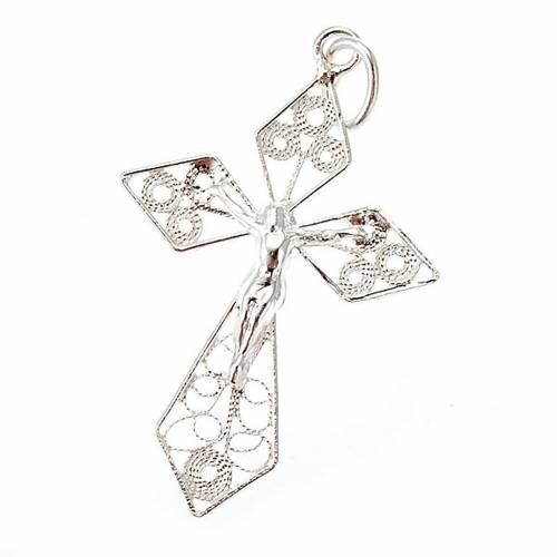 Silver filigree cross pendant s1