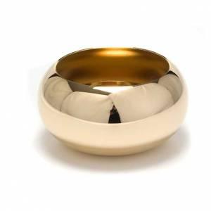 Simple altar candlestick, golden brass s1