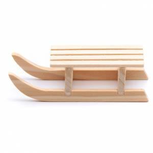 Accessori presepe per casa: Slitta legno 2x8x3 cm per presepe