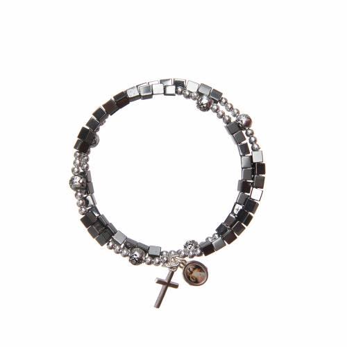 Spring bracelet with medal Our Lady of Medjugorje s2