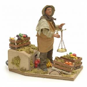 Szopka neapolitańska: Sprzedawca owoców z wagą 14 cm ruchoma szopka neapolitańska