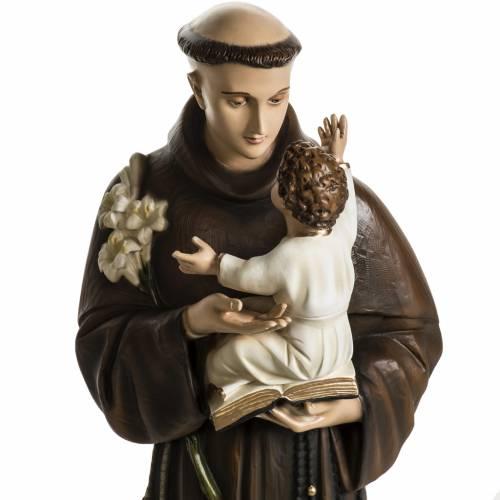 St Antoine de Padoue 100 cm fibre de verre colorée s11