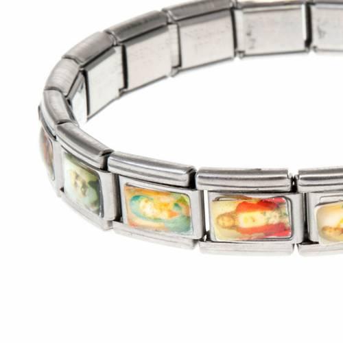 Stainless steel elastic saint bracelet s2