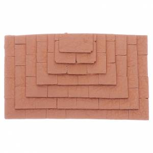 Home accessories miniatures: Stairway with three sides made in terracotta 1,5x10x5 cm