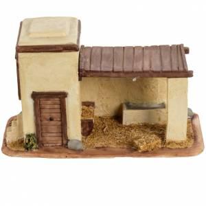 Stalla con mucca per villaggio Fontanini cm 6.5 s4