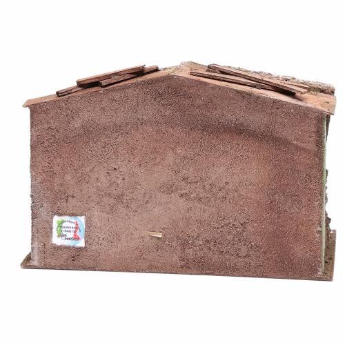 Stalla presepe con mangiatoia e fienile 18,5x29x14,5 cm s4