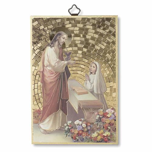 Stampa su legno Gesù Bimba Preghiera Ringraziamento diploma Comunione ITA s1
