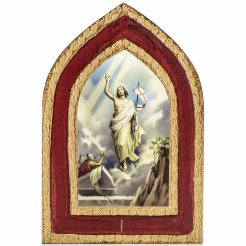 Stampa su legno Misteri Gloriosi 5 quadri s2