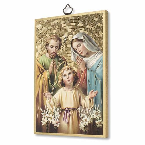 Stampa su legno Sacra Famiglia Preghiera per la Famiglia ITA s2