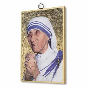 Quadri, stampe, codici miniati: Stampa su legno Santa Madre Teresa di Calcutta