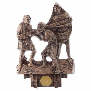 Way of the Cross: Stations of the Cross in bronze, 14 stations
