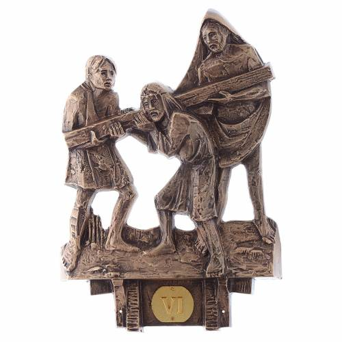 Stations of the Cross in bronze, 14 stations s6