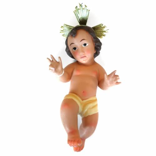 Statua Bambinello 26 cm ceramica aureola 1