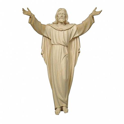 Statua Cristo Risorto legno naturale s1