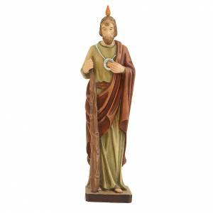 Statua di San Giuda in legno dipinto mantello marrone s1
