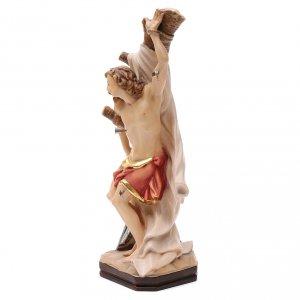 Statua di San Sebastiano in legno dipinto della Val Gardena s2