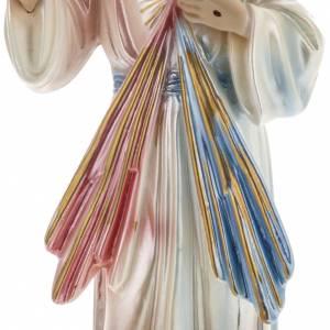 Statua Gesù Divina Misericordia 30 cm gesso madreperlato s3