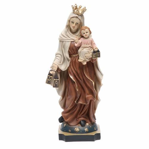 Statua Madonna del Carmine 32 cm resina s1