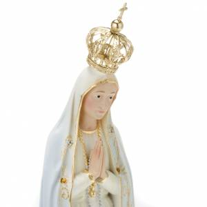 Statua Madonna di Fatima con corona strass 35 cm s2