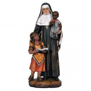 Santa Caterina Drexel dipinta legno acero Valgardena s1